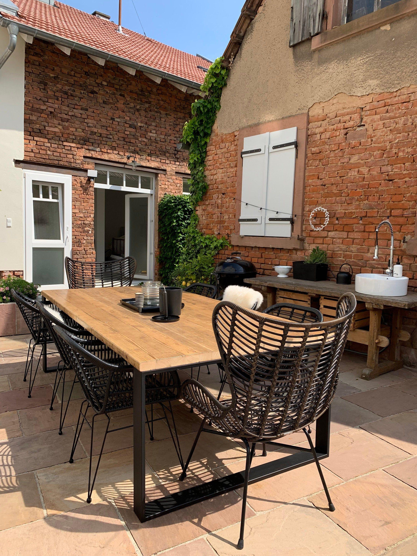 Gartentisch Terrassentisch Altholz Industrial In 2020 Terrassen