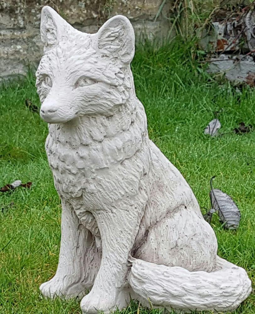 fox garden ornament in cast stone cast stone garden ornaments