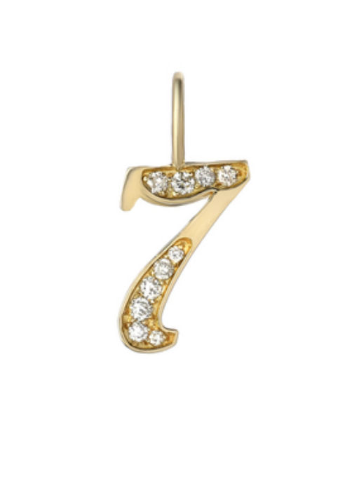 Diamond Set Classy Ladies Number Pendant Style 11826 11835 Mini Mini Jewels Fine Jewelry Collection Delicate Jewelry