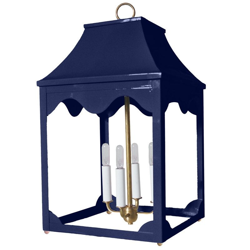 Charming Lacquer Indoor/Outdoor Lantern U0026 Light Fixture   Navy Blue (16 Colors  Available)