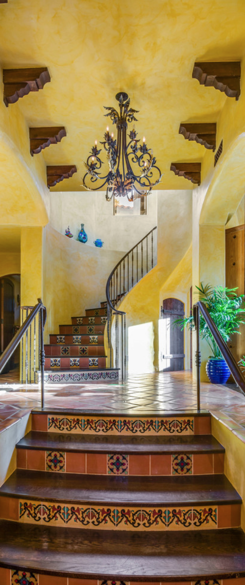 Amazing Spanish Stairways, Ideas, Stair, Home, House, Decoration, Decor, Indoor