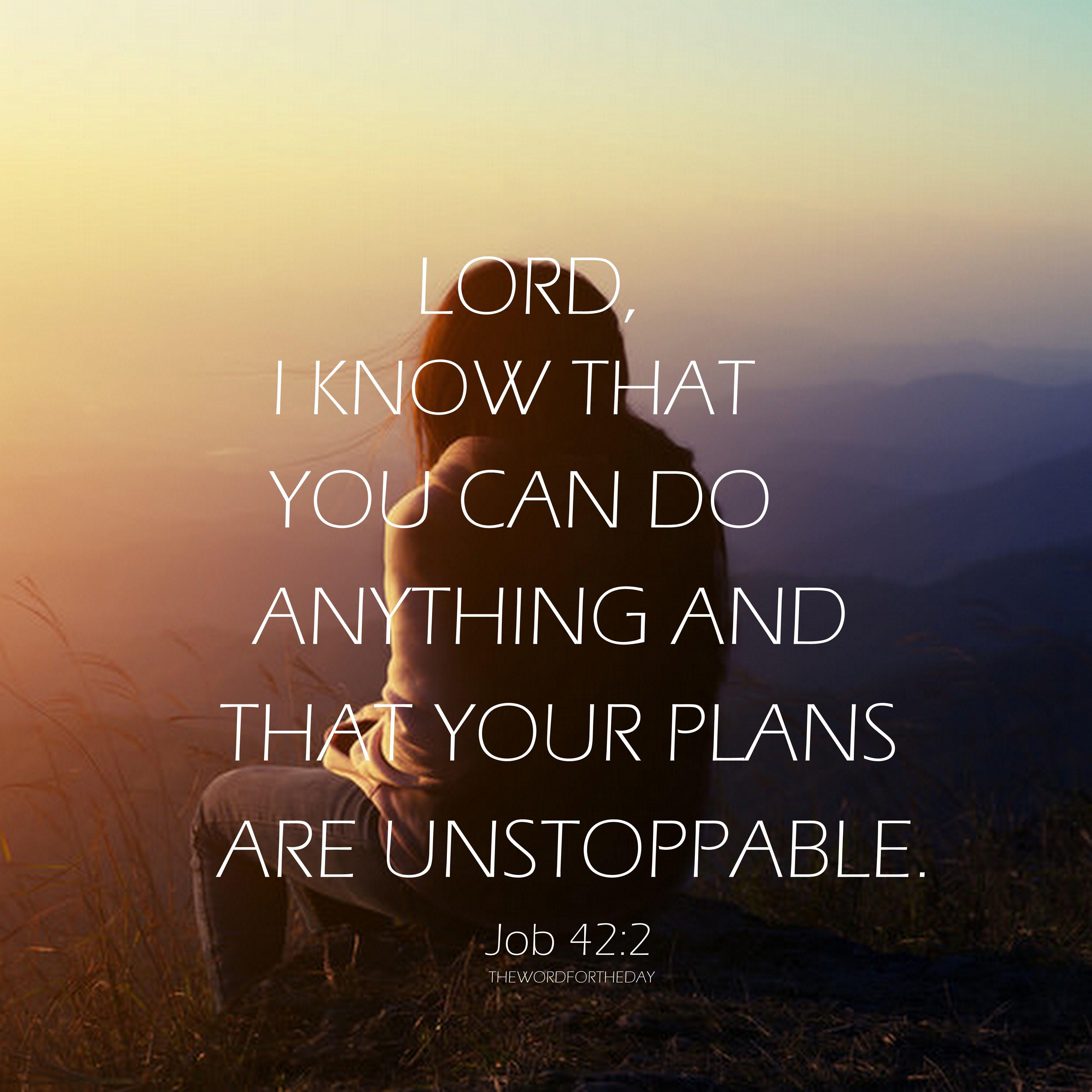 Bible Quotes About Life: #Job 42:2 #bible Verse #Bible Quotes #christian Life
