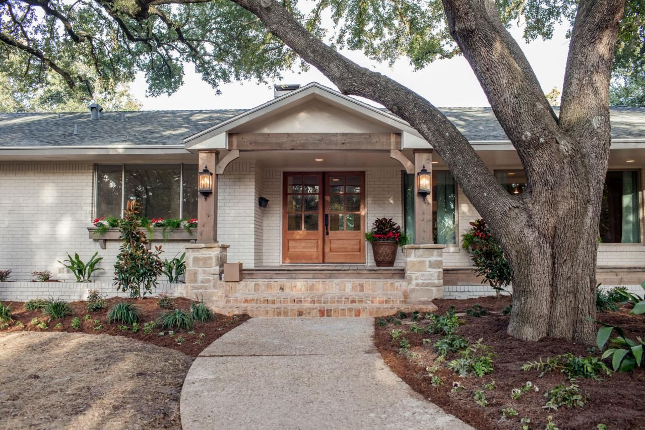 Fixer upper midcentury asian ranch goes french country for Joanna gaines home designs