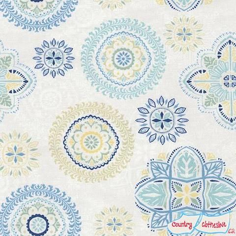 Fly Away Floral Medallions quilt fabric by Janelle Penner for Timeless Treasures