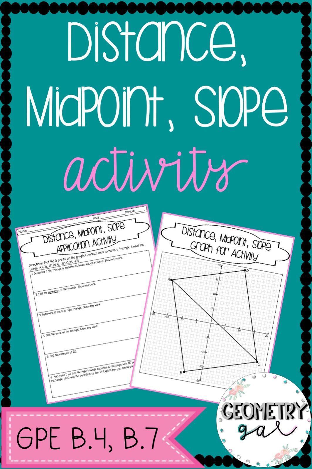 Coordinate Geometry Activity