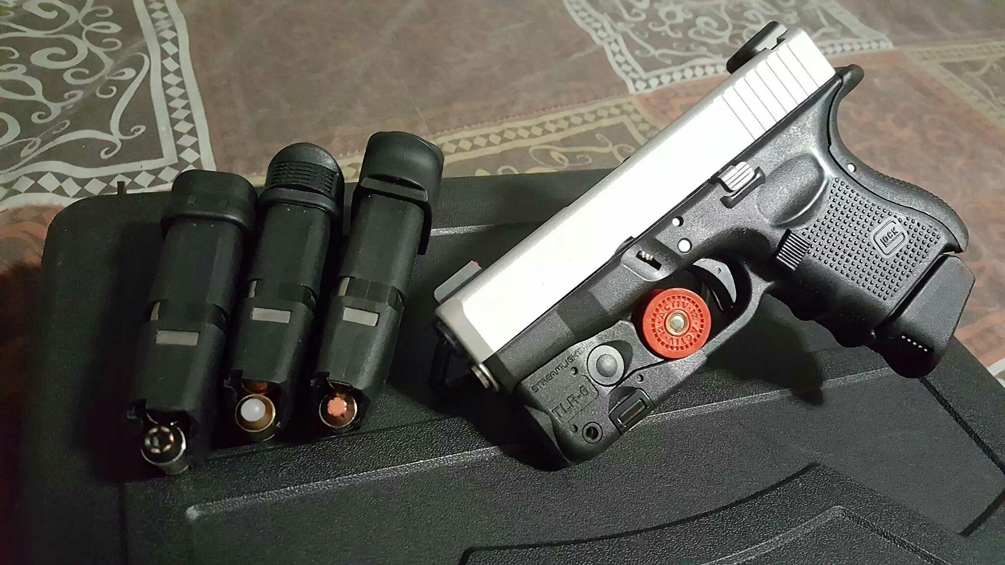 Glock 27 Gen 4 Streamlight TLR-6 Cerakote Satin Aluminum | Guns and