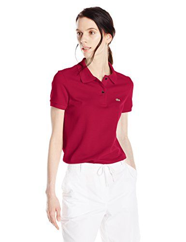9553061a6ffc8 Deal! Lacoste Women s Short-Sleeve Pique Polo Shirt in Original Fit ...