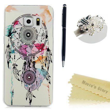 90f24781c64 Galaxy S6 edge Plus Carcasa,Mavis's Diary Funda Transparente con Bling  Diamantes Slim Rígido Case Cover para Samsung Galaxy S6 Edge Plus (2015)  Diseño ...