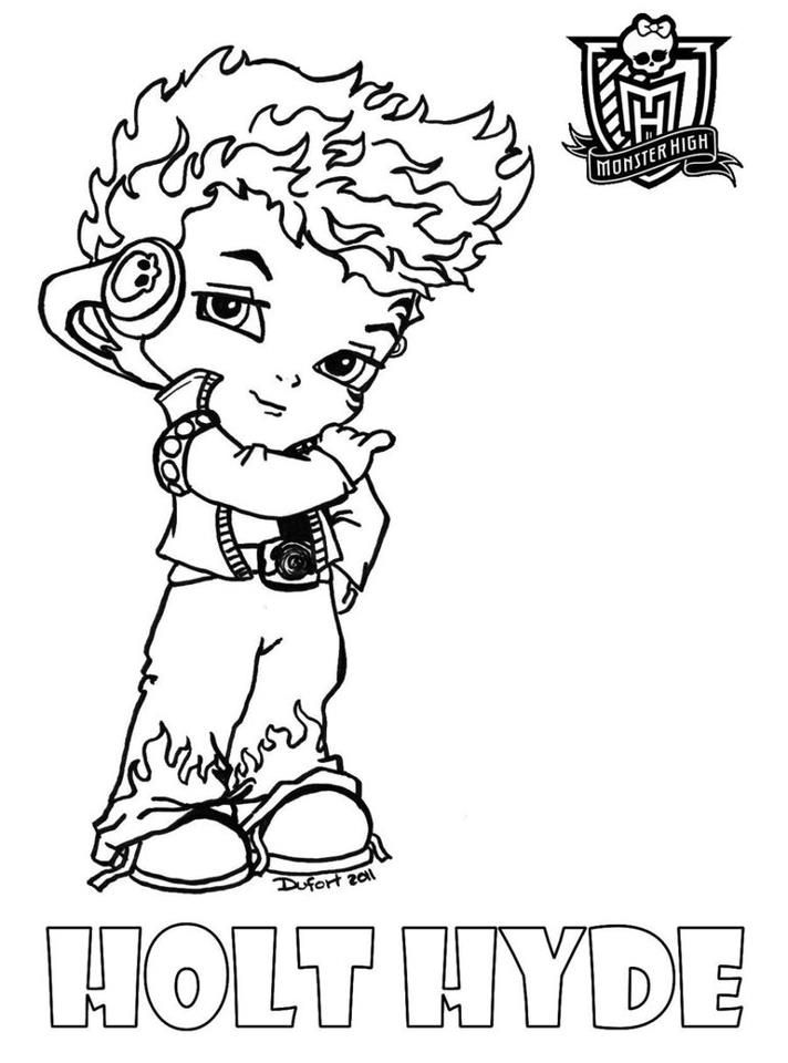 Holt Coloring Page For Your Kids Monster High Themed Birthday
