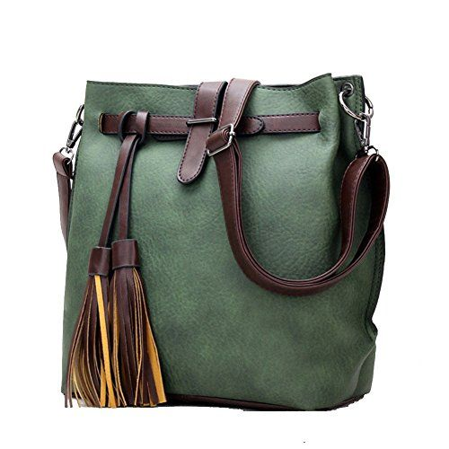 CloudBag Fashion Creative Women Brand Retro Tassel Bag Lock Shoulder Bags Handbags (Green) *** Read more reviews of the product by visiting the link on the image.