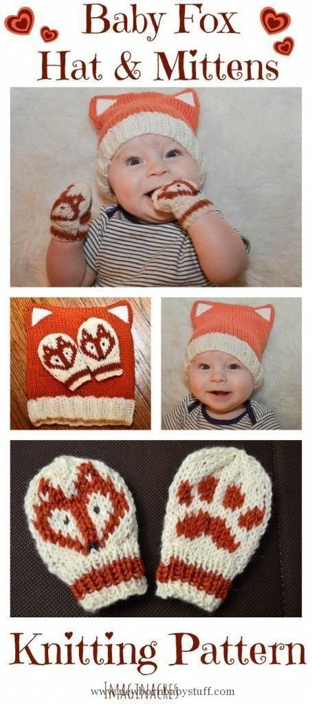 Baby Knitting Patterns Baby Fox Hat and Mittens Knitting Pattern - ImaginAcres