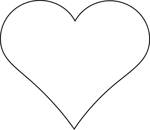 Un coeur pochoirs pinterest coeur gabarit et coeurs en tissu - Dessins coeurs ...