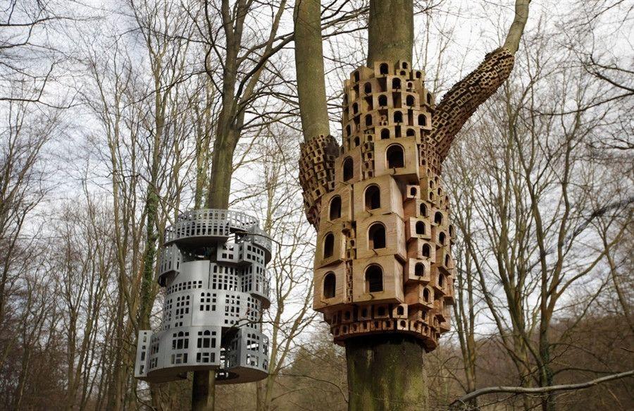 Un Chateau Pour Oiseaux Nichoir Idees Nichoir Maison Oiseaux