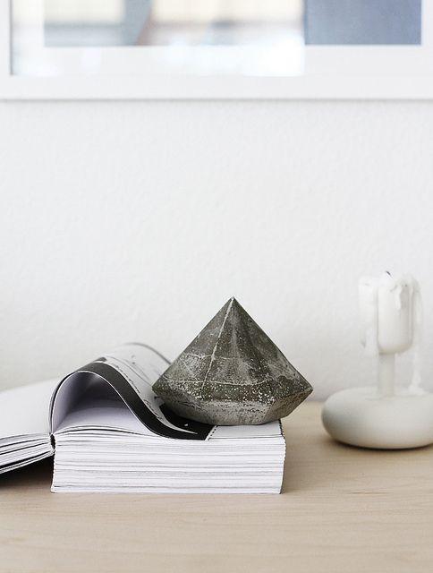Diy Concrete Diamond Bricolaje Concreto Artesanias De Concreto Disenos De Unas