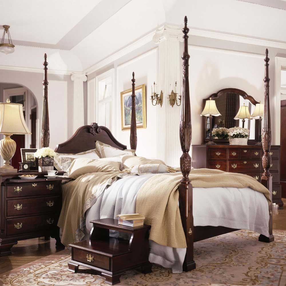 Queen Anne Bedroom Furniture For Carriage House Queen Carved Panel Rice Bed By Kincaid Furniture