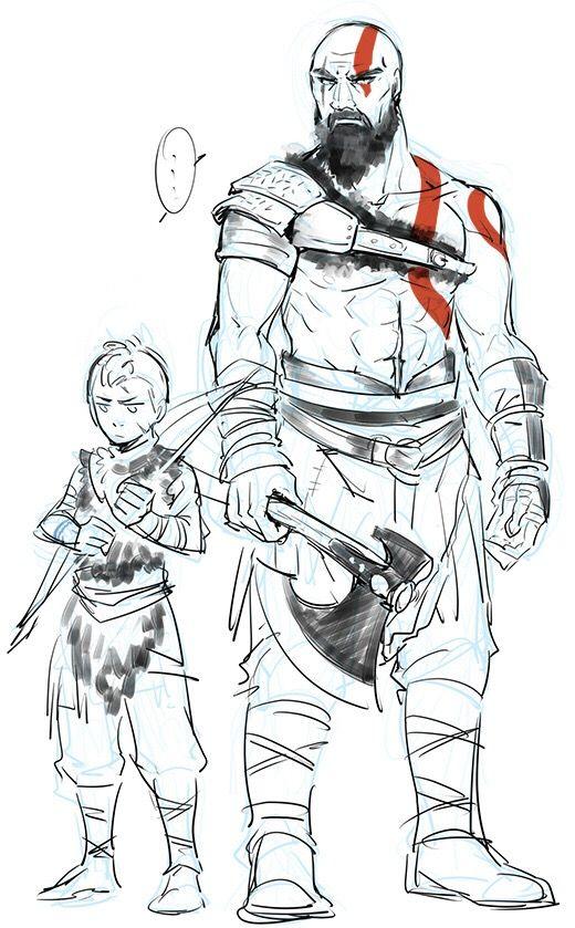 Kratos And Atreus Fanart Kratos Desenho Desenhos E Gods Of War