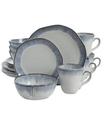Gibson Elite Cezanne Blue 16-Piece Dinnerware Set - Dinnerware - Dining \u0026 Entertaining - Macy\u0027s  sc 1 st  Pinterest & Gibson Elite Cezanne Blue 16-Piece Dinnerware Set | Dinnerware ...