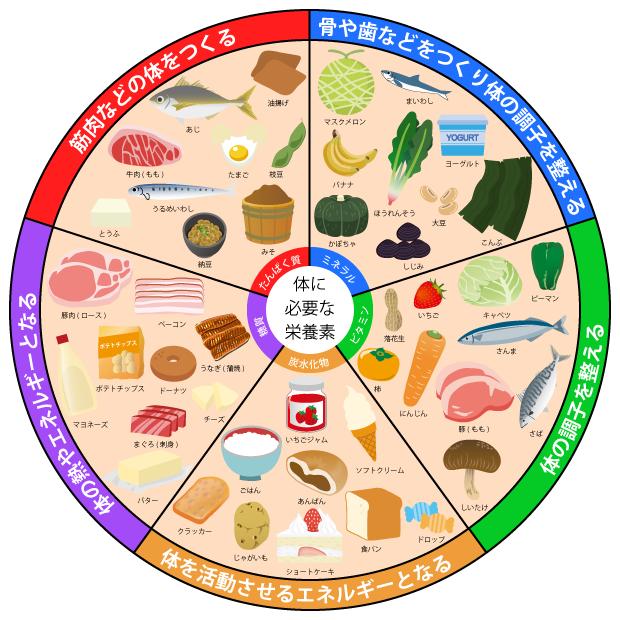 五大栄養素とは それぞれの働き 役割や食品をイラストで紹介 お食事ウェブマガジン グルメノート 2020 栄養素 食事バランスガイド 食事