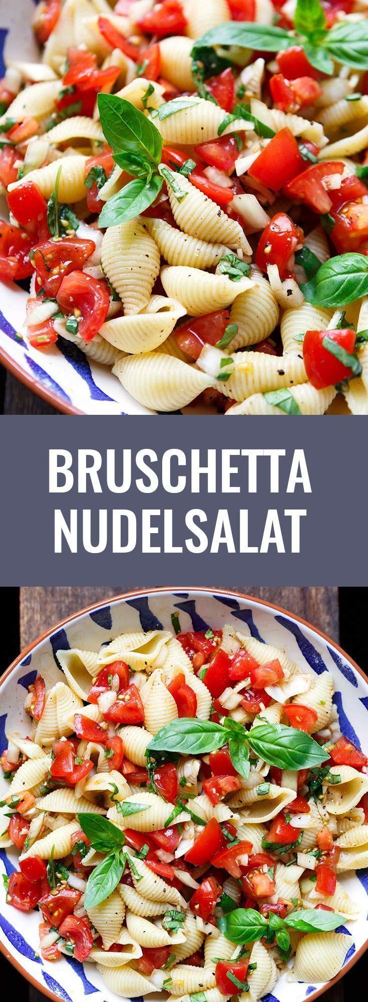 Photo of Bruschetta Nudelsalat (Super einfach!) – Kochkarussell