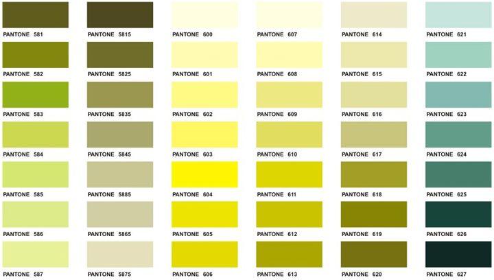 Pantone Color Chart  Executive Apparel  Farben Colors