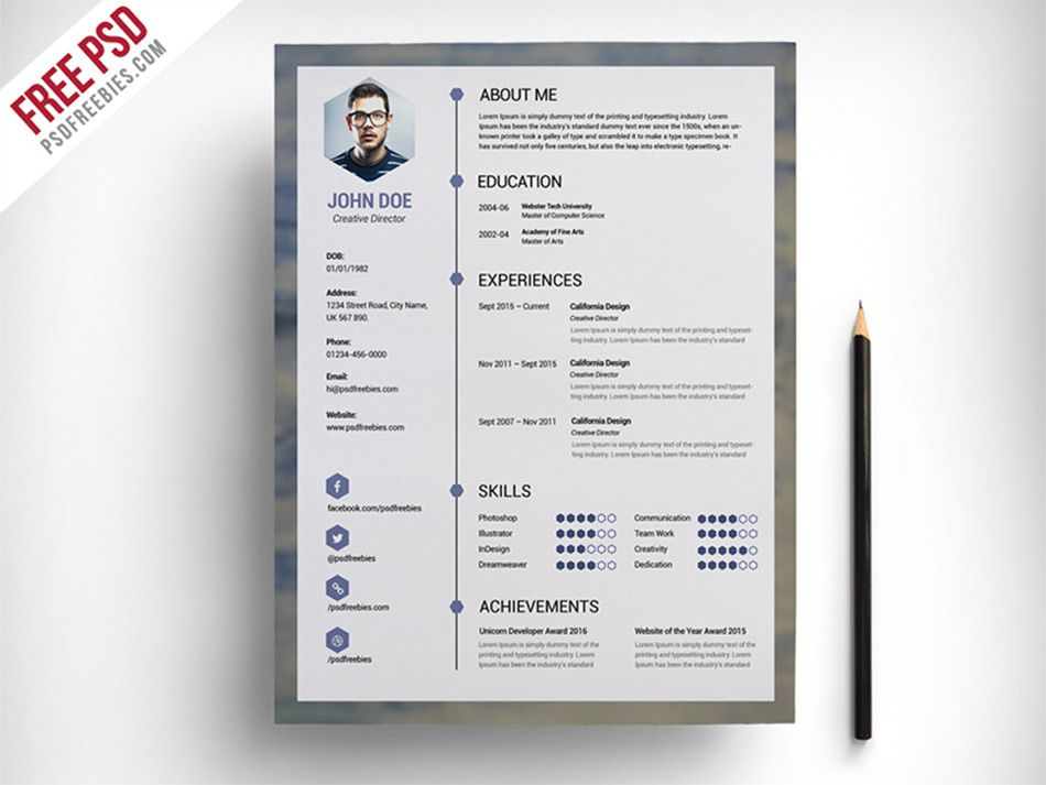 Quirky Resume Templates Free Freeresumetemplates