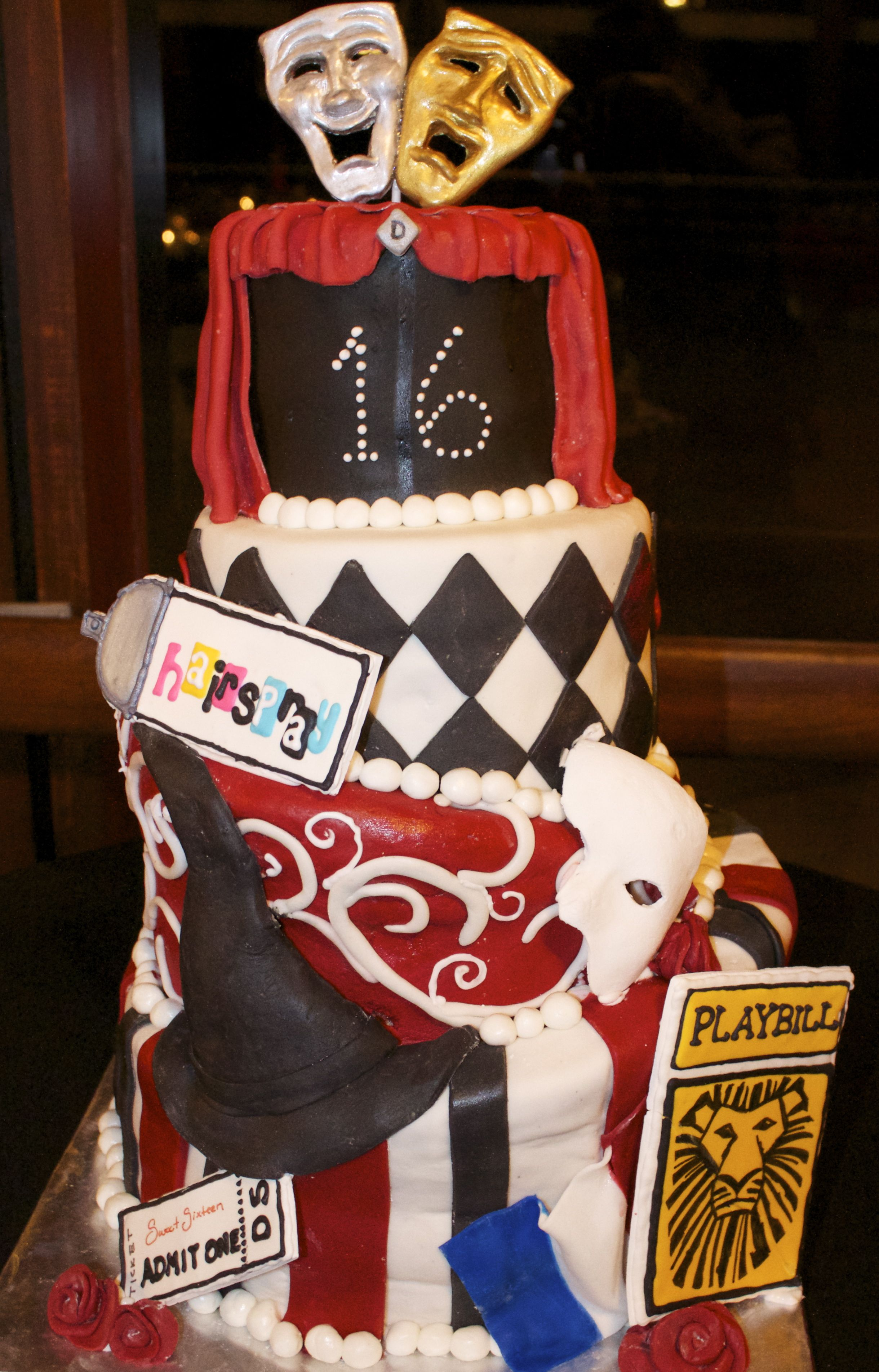 Broadway Sweet 16 Cake