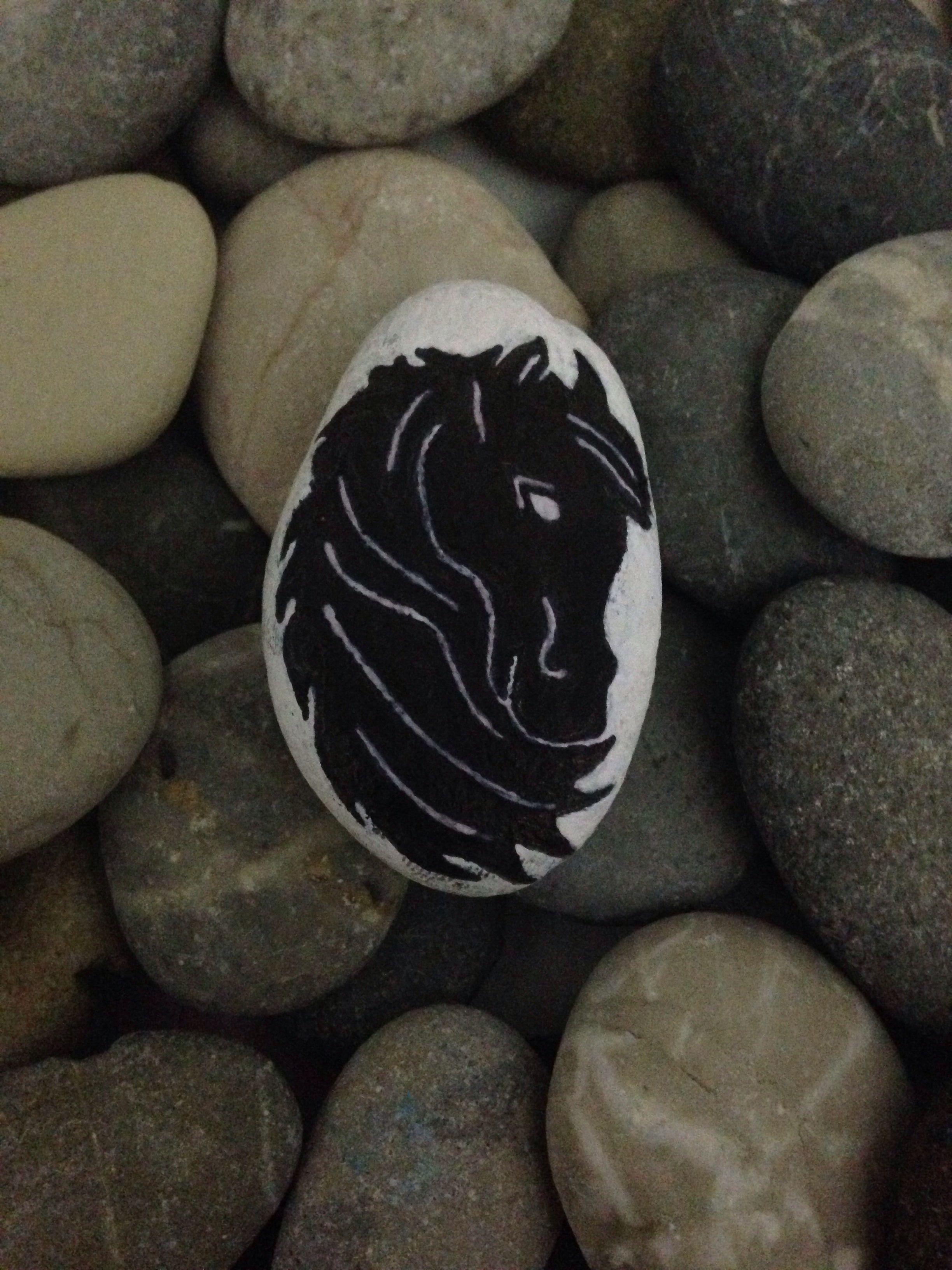 Horse Silhouette At Kafasi Silueti Mosaicos