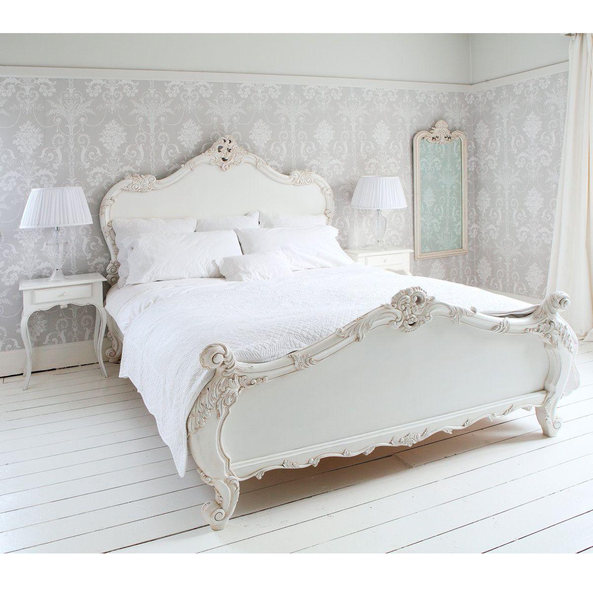 Provencal sassy white french bed french decor pinterest french