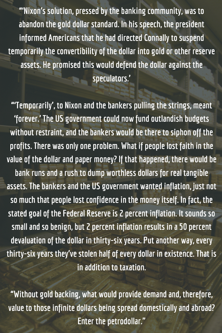 Sedition quote about Nixon and the petrodollar. # ...