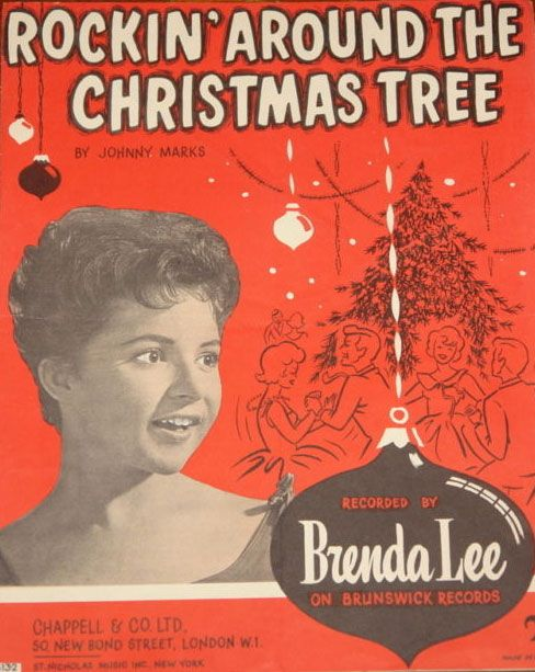 Brenda Lee - Rockin' Around The Christmas Tree (1958) http:// - Pin By BOBBY SMITH On Holiday Stuff Pinterest Christmas, Vintage