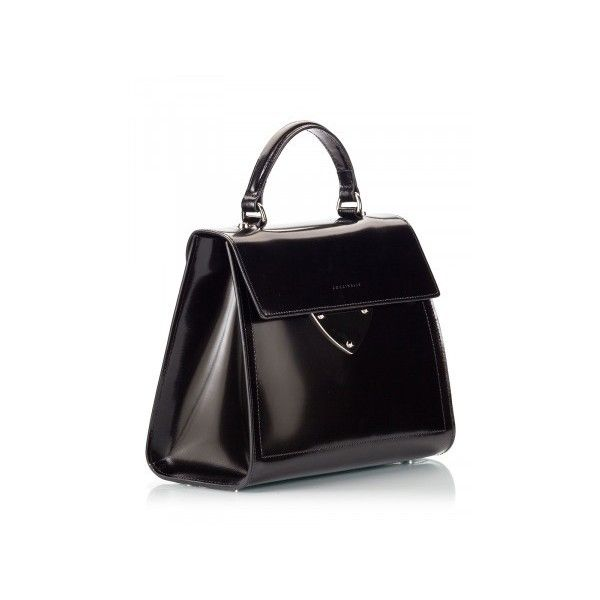 Coccinelle - B14 Black polished leather top-handle mini bag (44570 ALL) ❤ a17811d4fb014
