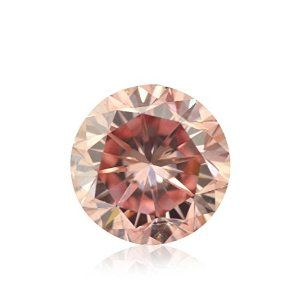 0.51 Carat Fancy Intense Pink Loose Diamond Natural Color Round Cut GIA Cert