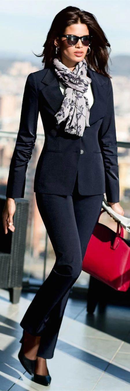 Ofis Sikligi Bayan Pantolon Ceket Takim Elbise Ofis Kombinleri Goruntuler Ile Kadin Giyim Takim Elbise Stil