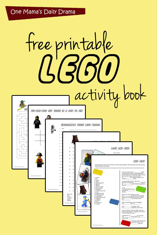 Lego Worksheets Printables : Printable lego activity book books and