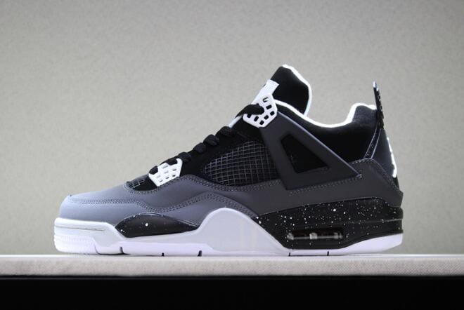 "new styles 4acb3 e0664 2018 Air Jordan 4 Retro ""Fear"" Black White-Cool Grey-Pure Platinum  626969-030"