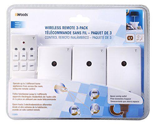 Woods 13569 Indoor Wireless Remote Control (3-Pack)