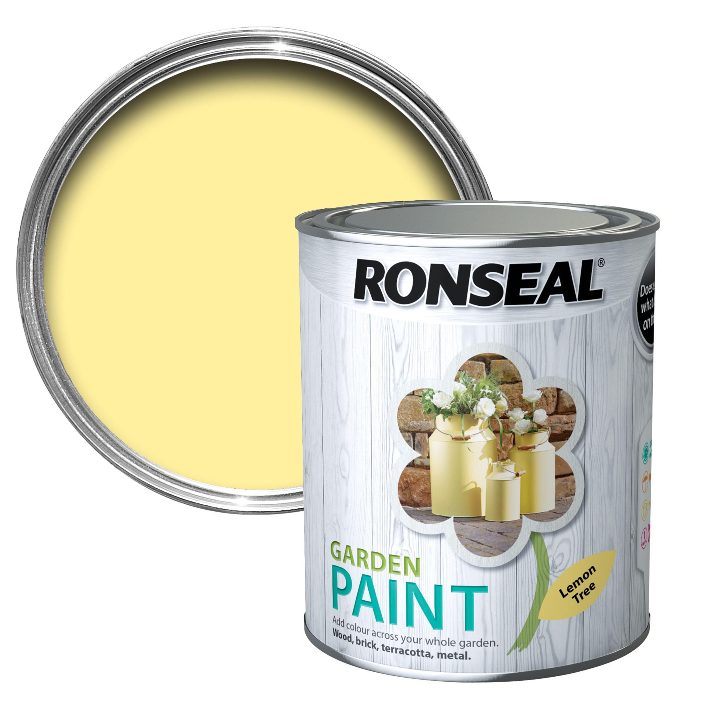 Ronseal Garden Lemon Tree Matt Garden Paint 750ml
