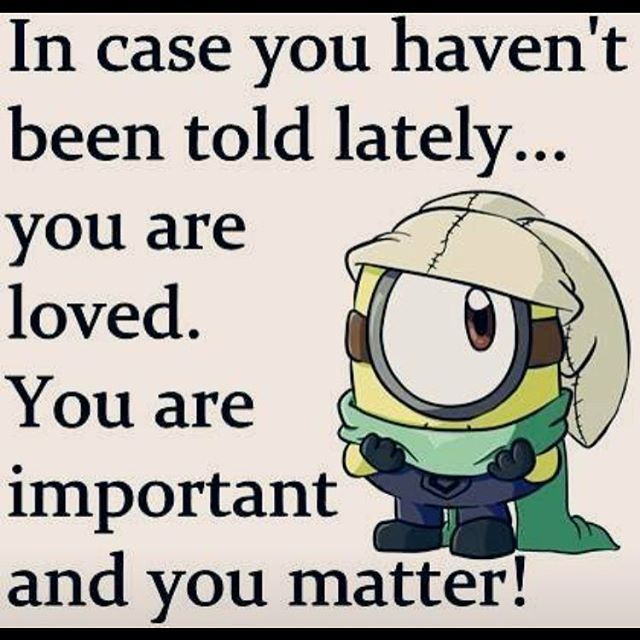 You Are Important And You Matter! Minion Minions Minion Quotes Funny