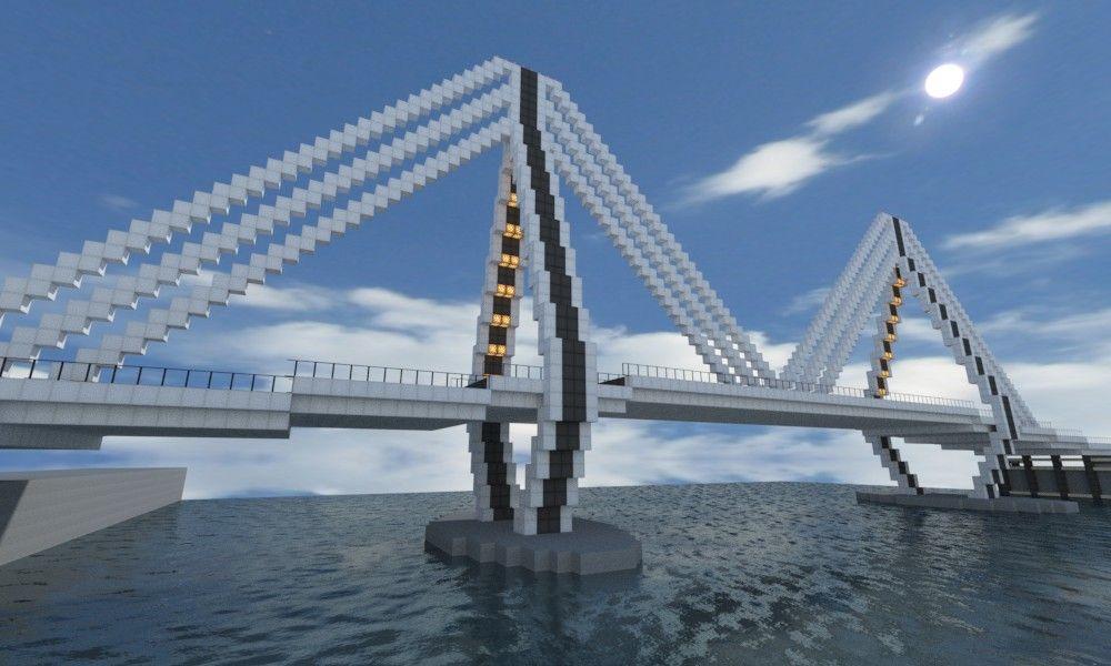Minecraft Modern Bridges | guntana bridge 8 guntana bridge 8 diamonds