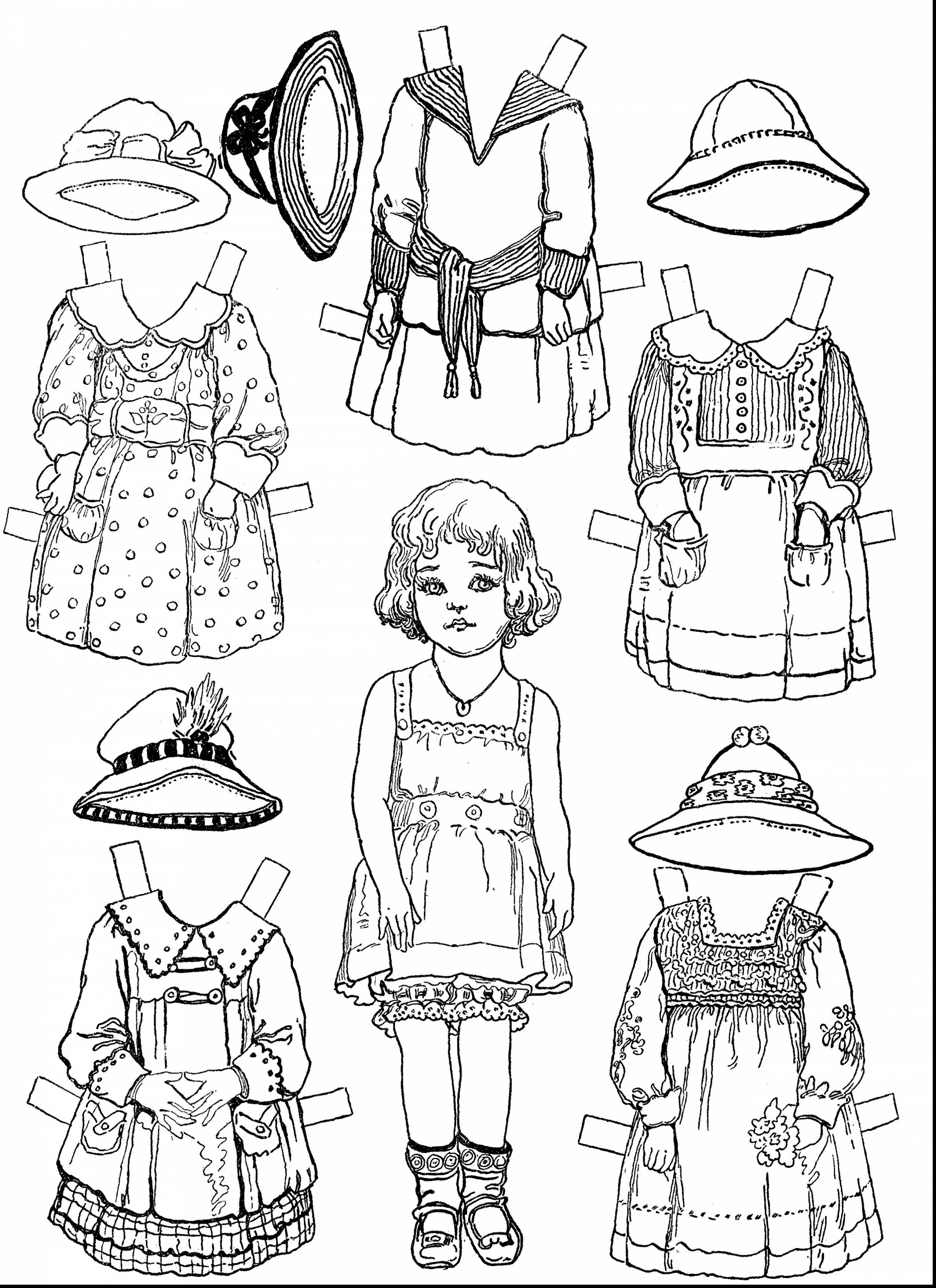 terrific printable paper dolls coloring pages with doll coloring pages and paper doll coloring pages - Paper Doll Coloring Pages