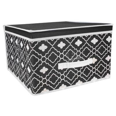 Ana Davis Design Storage Box Bin Size Black White Storage Prints