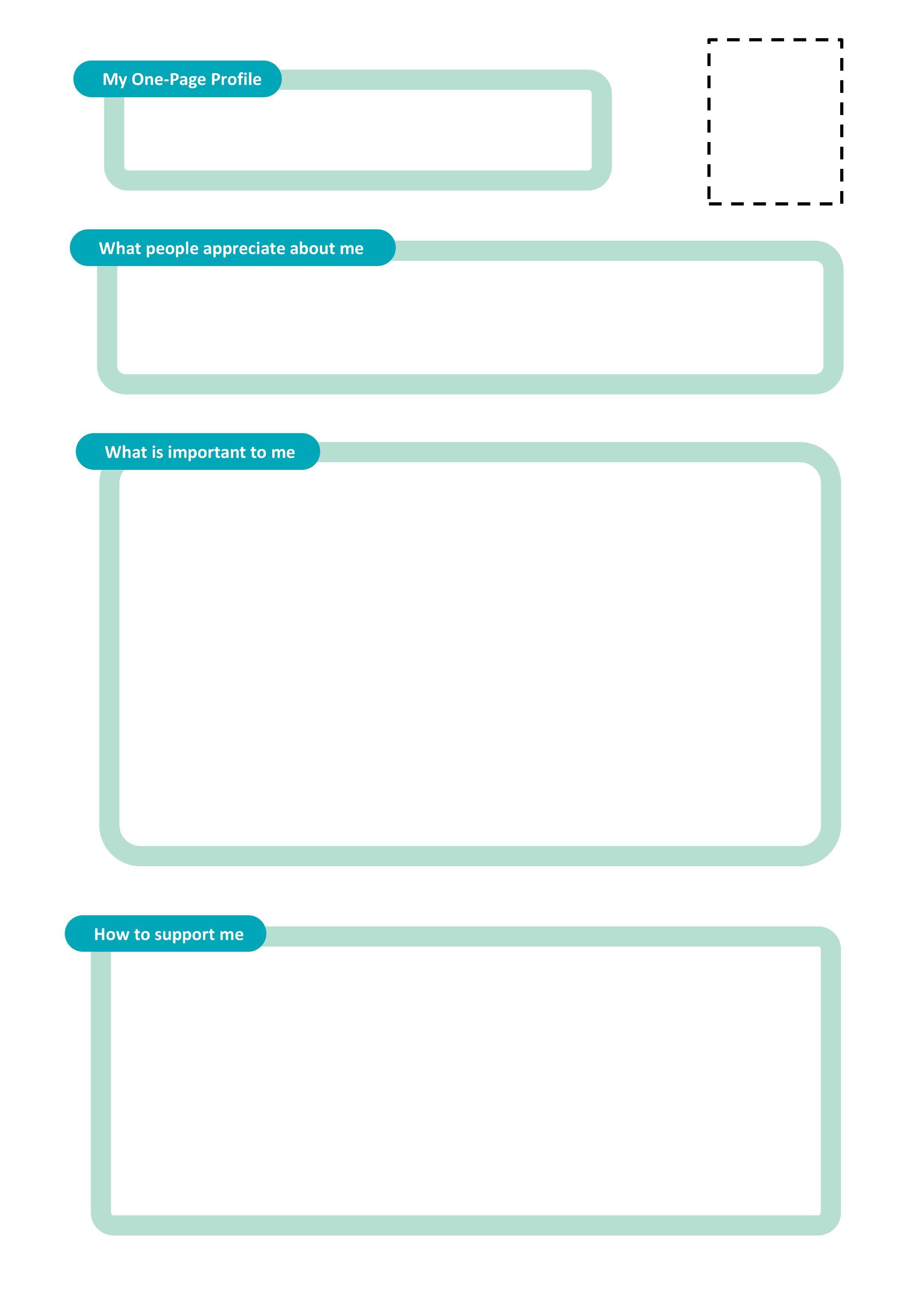 Onepage profile templates Helen Sanderson Associates