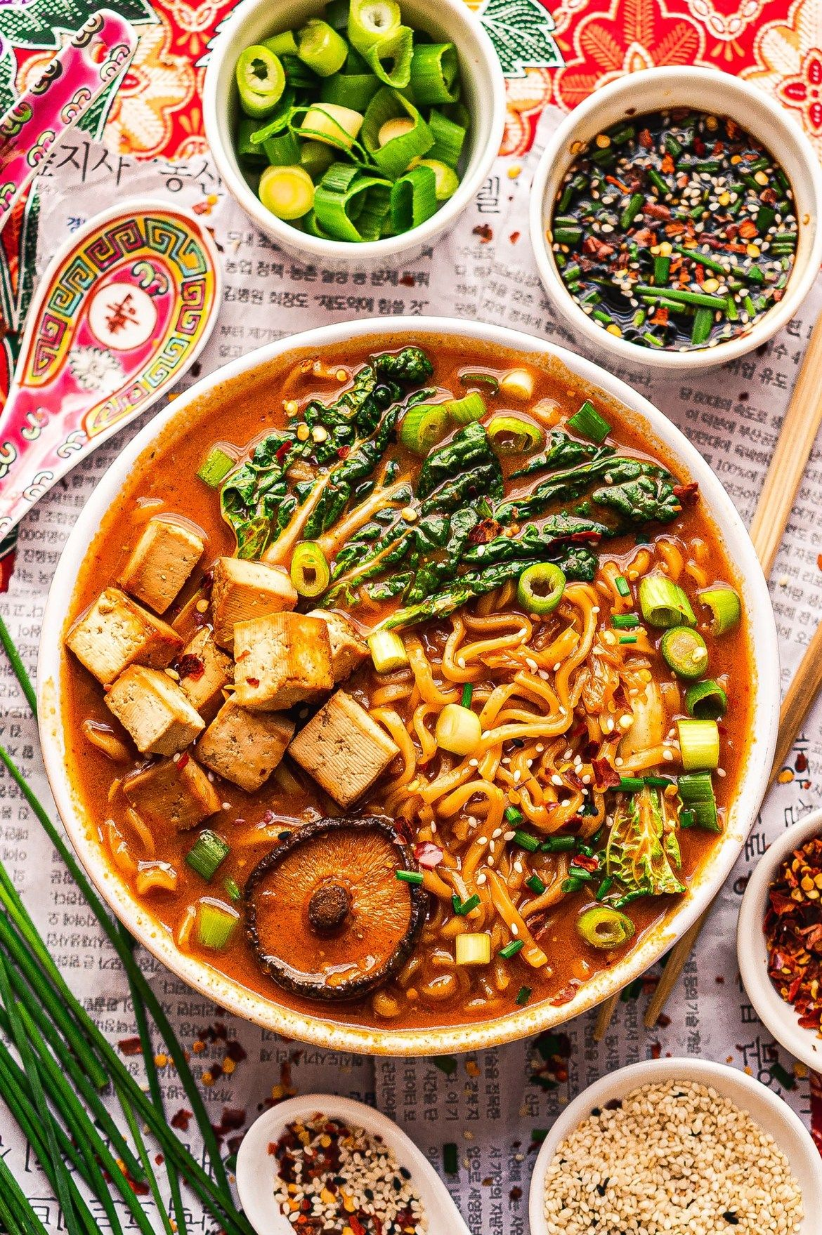 Spicy Kimchi Ramen Justyna Manjari Recipe Vegan Korean Food Vegan Kimchi Vegan Recipes