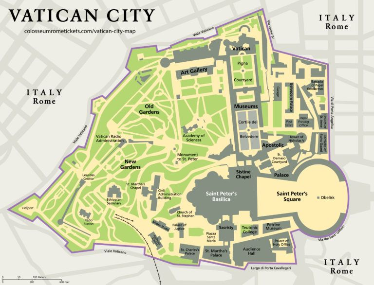 Vatican City Map Detailed View