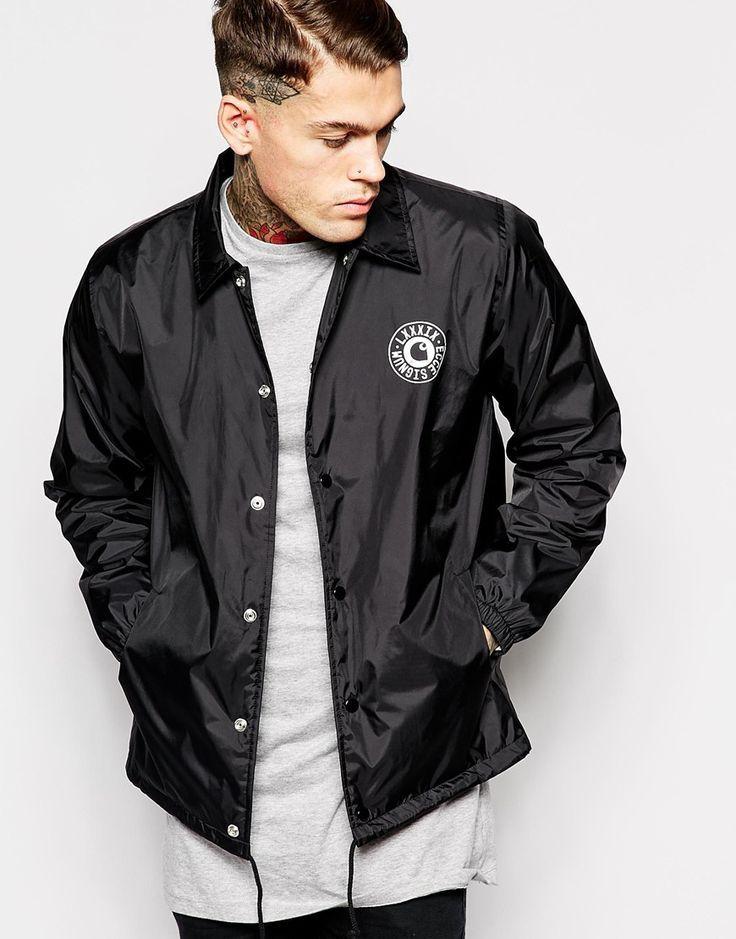 Asos black coach jacket