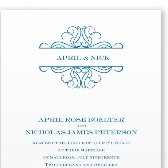 Sweet Swirls - Wedding Invitation