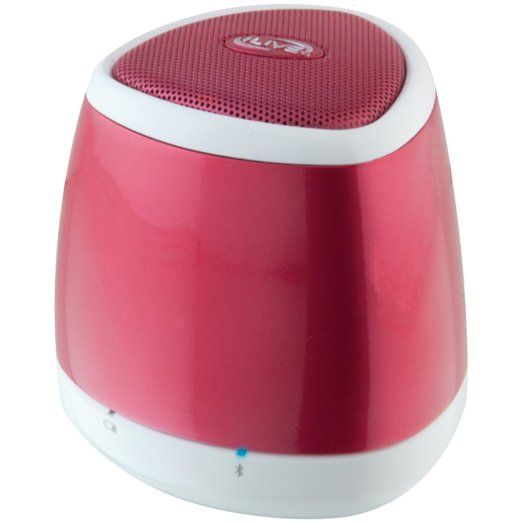 iLive Red Portable Bluetooth Speaker