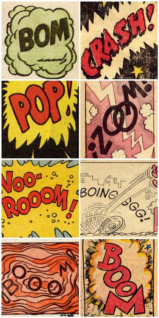 POP / BOOM / CRASH! Some great sound effects lettering from