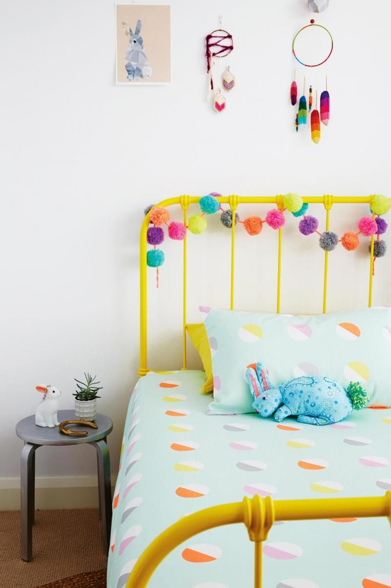 Colourful Kids Bedroom Pom Poms Colorful Kids Room Kid
