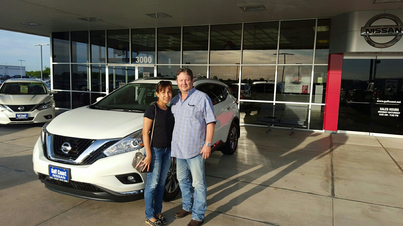 Gulf Coast Nissan >> Leighton And July Hoskins With Their New 2016 Murano Thanks